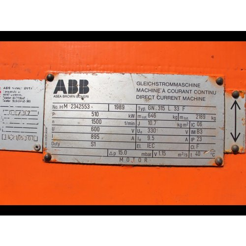 ABB GN 315 L 33 F Gleichstrommaschine GN315L33F Gleichstrommotor 510 kW Direct current machine