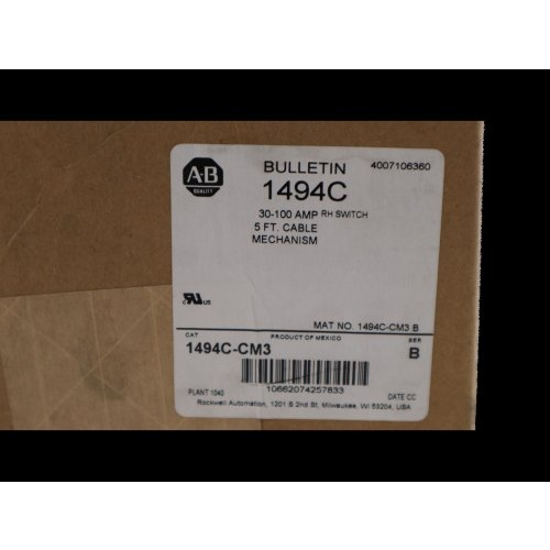 Allen Bradley 1494C-CM3 Trennschalter-Kit disconnect switch kit