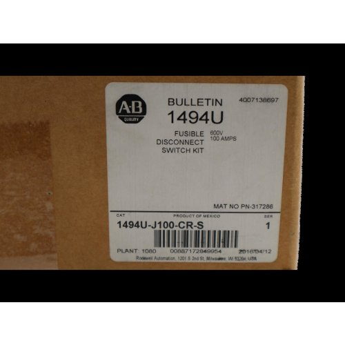 Allen Bradley 1494U-J100-CR-S Universal Trennschalter-Kit disconnect switch kit