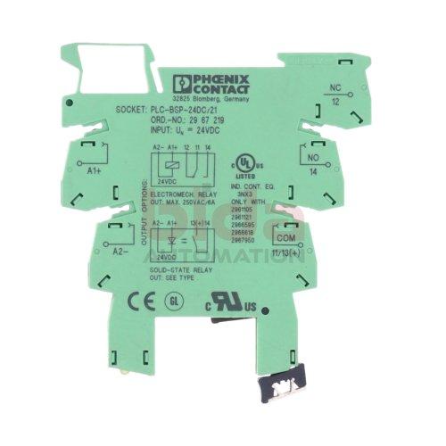 Phoenix Contact PLC-BSP-24DC//21 Relaismodul 2967219 2961105 used